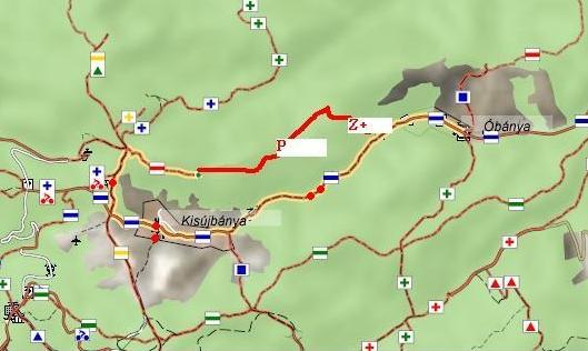 óbánya térkép Mecseki túra óbánya térkép